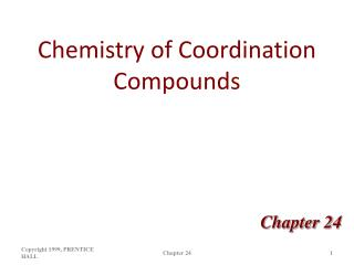 Chemistry of Coordination Compounds