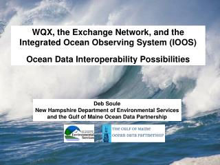 WQX, the Exchange Network, and the Integrated Ocean Observing System (IOOS)