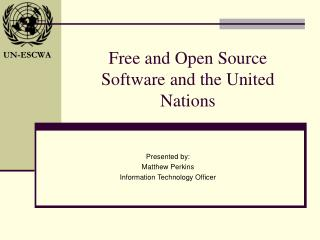 Free and Open Source Software and the United Nations