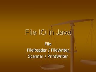 File IO in Java