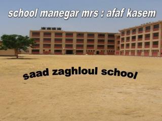 saad zaghloul school
