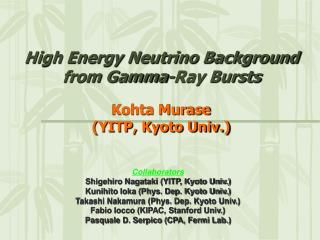 High Energy Neutrino Background from Gamma-Ray Bursts