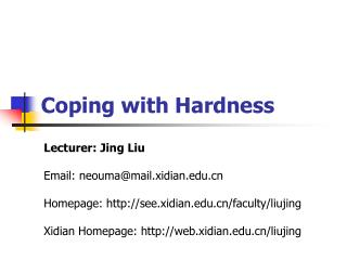 Coping with Hardness