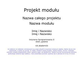 Projekt modułu