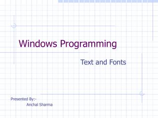 Windows Programming
