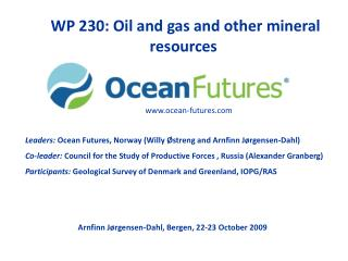 WP 230: Oil and gas and other mineral resources