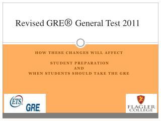 Revised GRE  General Test 2011