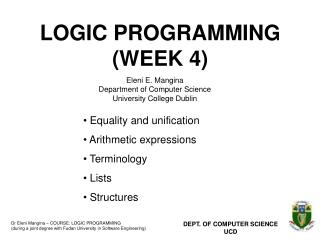 LOGIC PROGRAMMING (WEEK 4)
