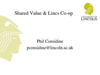 Shared Value & Lincs Co-op