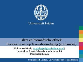 Islam en biomedische ethiek: Perspectieven op levensbeëindiging (euthanasie)