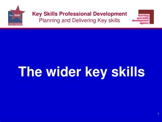 Key Skills Professional Development Planning and Delivering Key skills