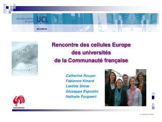 Rencontre des cellules Europe  des universités  de la Communauté française