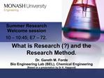 What is Research  and the Research Method.