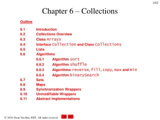 Chapter 6 – Collections