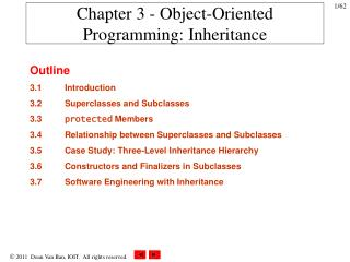 Chapter 3 - Object-Oriented Programming: Inheritance