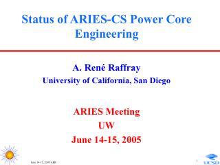 Status of ARIES-CS Power Core Engineering
