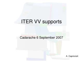 ITER VV supports