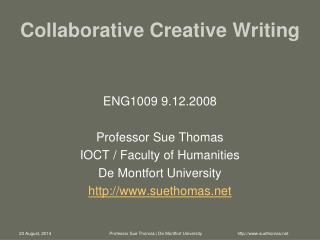 Collaborative Creative Writing