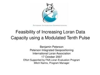 Feasibility of Increasing Loran Data Capacity using a Modulated Tenth Pulse
