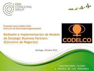 Propuesta para Codelco  Chile Dirección  de  Efectividad  Organizacional