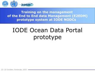 IODE Ocean Data Portal prototype