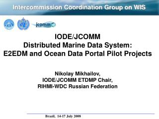 Intercommission  Coordination Group on WIS