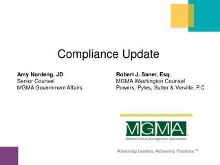 Compliance Update