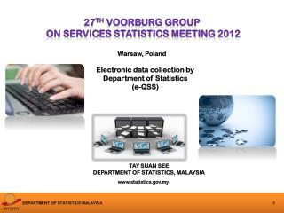 27 th  voorburg group   on services statistics meeting 2012