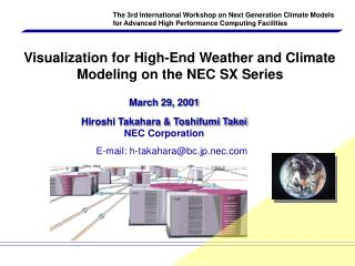 March 29, 2001 Hiroshi Takahara & Toshifumi Takei NEC Corporation
