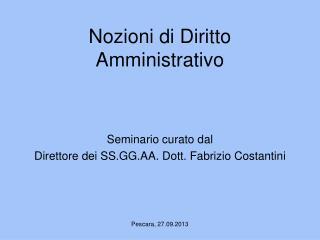 Nozioni di Diritto Amministrativo