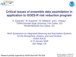 Critical issues of ensemble data assimilation in application to GOES-R risk reduction program