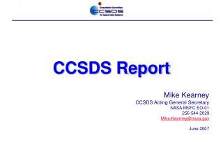 CCSDS Report
