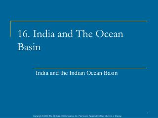 16. India and The Ocean Basin