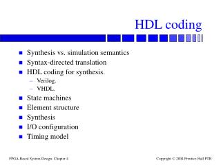 HDL coding