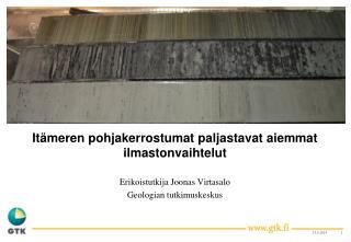 Itämeren pohjakerrostumat paljastavat aiemmat ilmastonvaihtelut