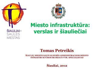 Miesto infrastruktūra: verslas ir šiauliečiai