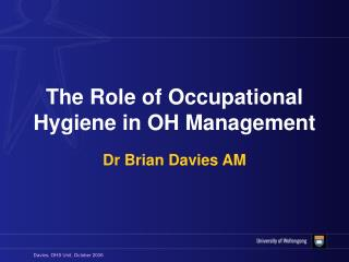 The Role of Occupational Hygiene in OH Management