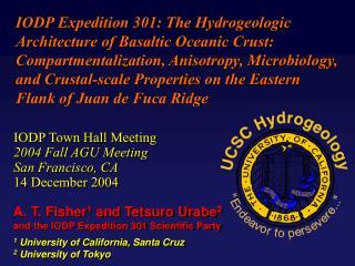 IODP Town Hall Meeting 2004 Fall AGU Meeting San Francisco, CA 14 December 2004