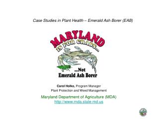 Maryland Department of Agriculture (MDA) mda.state.md