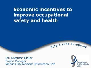 Dr. Dietmar Elsler Project Manager Working Environment Information Unit