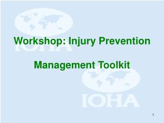Workshop: Injury Prevention  Management Toolkit