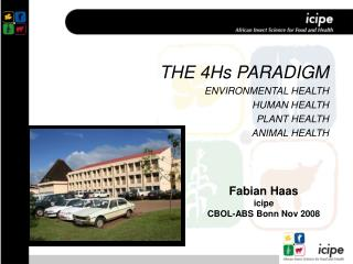 THE 4Hs PARADIGM ENVIRONMENTAL HEALTH HUMAN HEALTH PLANT HEALTH ANIMAL HEALTH