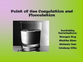 Point of Use Coagulation and Flocculation