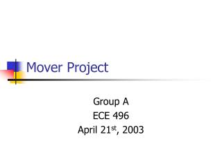 Mover Project