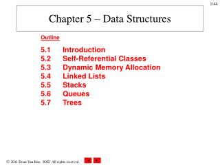 Chapter 5 – Data Structures