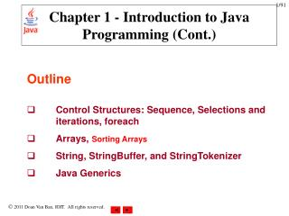 Chapter 1 - Introduction to Java Programming (Cont.)