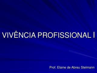 VIV�NCIA PROFISSIONAL I