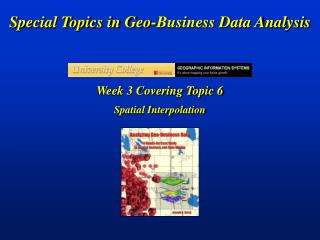 Special Topics in Geo-Business Data Analysis
