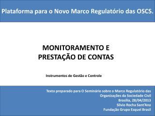 MONITORAMENTO E  PRESTAÇÃO DE CONTAS