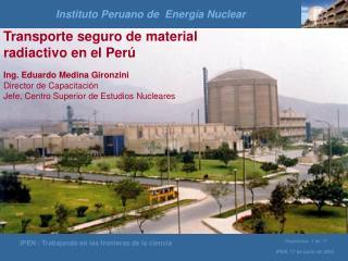 Instituto Peruano de  Energ�a Nuclear